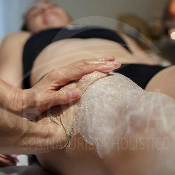 masaje exfoliacion silice pierna bowspa